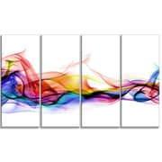 DesignArt Abstract Smoke Contemporary 4 Piece Graphic Art on Wrapped Canvas Set