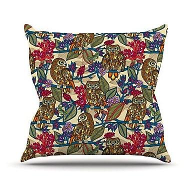 KESS InHouse My Boobooks Owls Throw Pillow; 20'' H x 20'' W 4.5'' D