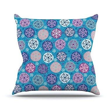 KESS InHouse Floral Winter Throw Pillow; 26'' H x 26'' W x 5'' D