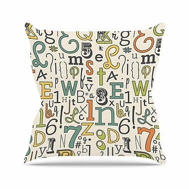 KESS InHouse Down The Alleyway Throw Pillow; 16'' H x 16'' W