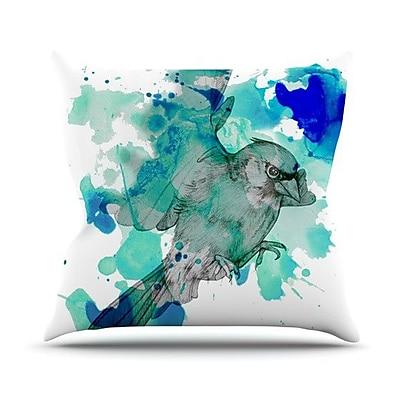 KESS InHouse A Cardinal Throw Pillow; 18'' H x 18'' W