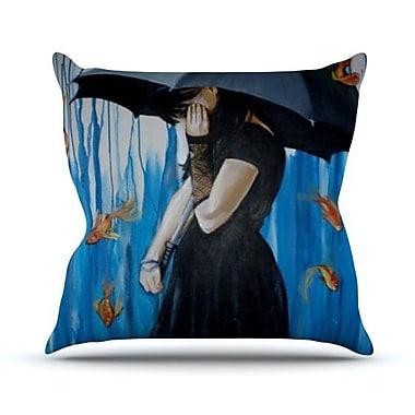 KESS InHouse Sink or Swim Throw Pillow; 18'' H x 18'' W