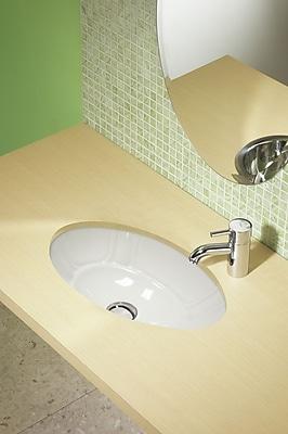 DecoLav Classically Redefined Ceramic Oval Undermount Bathroom Sink; White