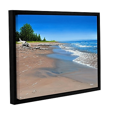 ArtWall Driftwood Beach by Ken Kirsh Framed Photographic Print on Wrapped Canvas; 18'' H x 24'' W