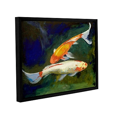 ArtWall Feng Shui Koi Fish by Michael Creese Framed Painting Print; 14'' H x 18'' W