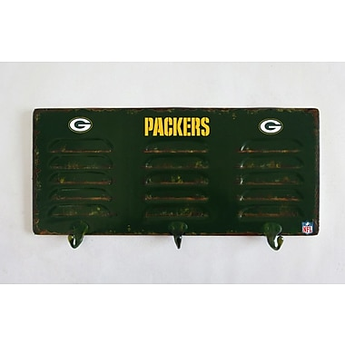 Imperial NFL 3 Hook Metal Locker Coat Rack; Baltimore Ravens