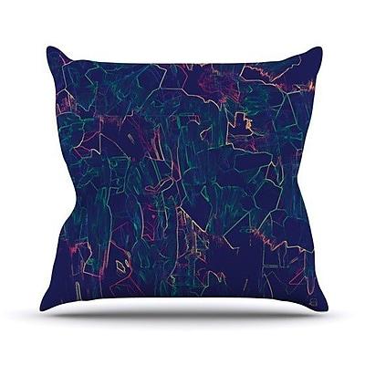 KESS InHouse Night Life Throw Pillow; 20'' H x 20'' W 4.5'' D