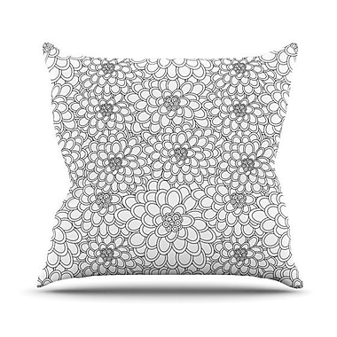 KESS InHouse Flowers Throw Pillow; 20'' H x 20'' W 4.5'' D