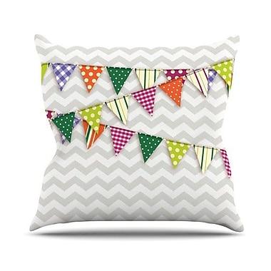 KESS InHouse Flags 1 Throw Pillow; 26'' H x 26'' W x 5'' D