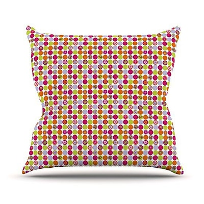KESS InHouse Happy Circles Throw Pillow; 20'' H x 20'' W 4.5'' D