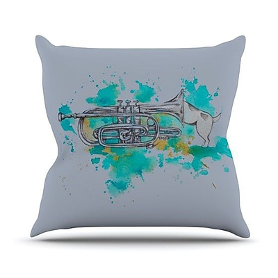KESS InHouse Hunting for Jazz Throw Pillow; 18'' H x 18'' W
