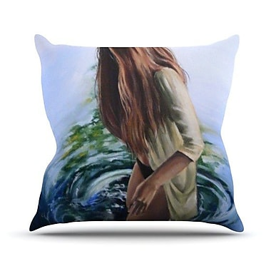 KESS InHouse Knee Deep Throw Pillow; 18'' H x 18'' W