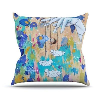 KESS InHouse Origami Strings Throw Pillow; 26'' H x 26'' W