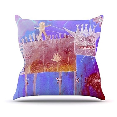 KESS InHouse Scary Song about Love Throw Pillow; 20'' H x 20'' W