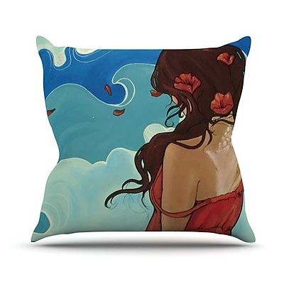 KESS InHouse Sea Swept Throw Pillow; 20'' H x 20'' W