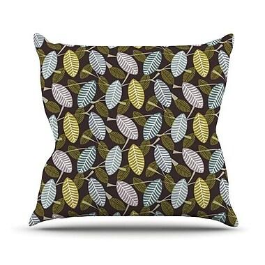 KESS InHouse Moss Canopy Throw Pillow; 20'' H x 20'' W 4.5'' D