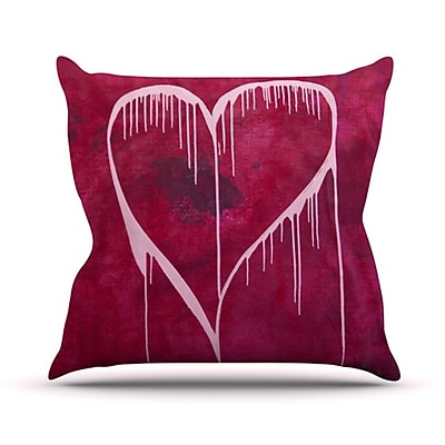 KESS InHouse Miss You Throw Pillow; 26'' H x 26'' W