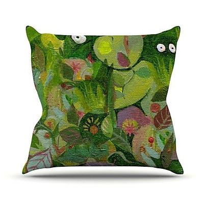 KESS InHouse Jungle Throw Pillow; 20'' H x 20'' W