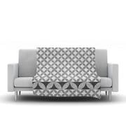 KESS InHouse Diamond Black Throw Blanket; 80'' L x 60'' W