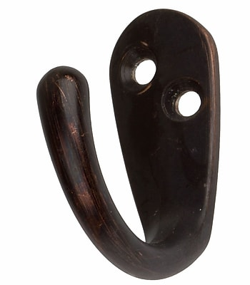 GlideRite Hardware Wall Hook (Set of 100); Oil Rubbed Bronze