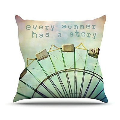 KESS InHouse Every Summer Has a Story Throw Pillow; 26'' H x 26'' W