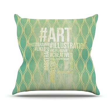 KESS InHouse Hashtag Throw Pillow; 18'' H x 18'' W x 4.1'' D