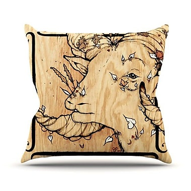 KESS InHouse Ram Throw Pillow; 18'' H x 18'' W x 4.1'' D