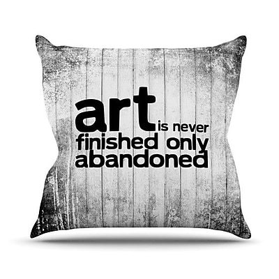 KESS InHouse Art Never Finished Throw Pillow; 20'' H x 20'' W 4.5'' D