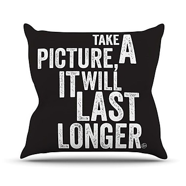 KESS InHouse Take a Picture Throw Pillow; 20'' H x 20'' W