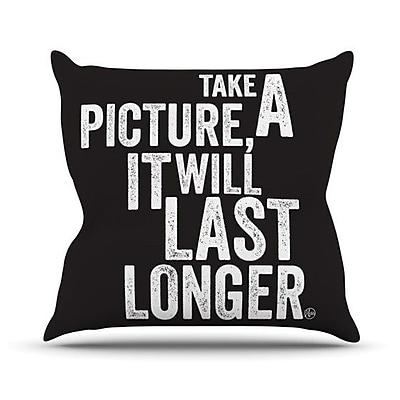 KESS InHouse Take a Picture Throw Pillow; 26'' H x 26'' W
