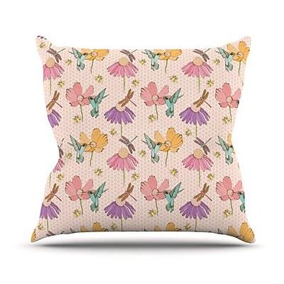 KESS InHouse Magic Garden Throw Pillow; 20'' H x 20'' W