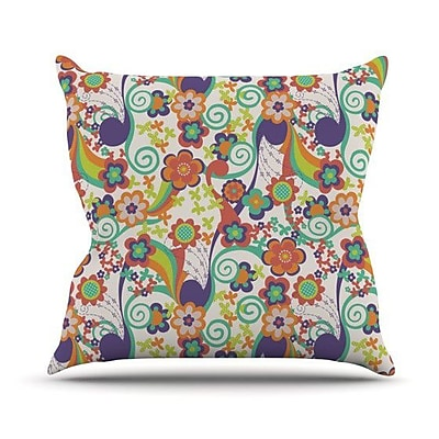 KESS InHouse Printemps Throw Pillow; 20'' H x 20'' W
