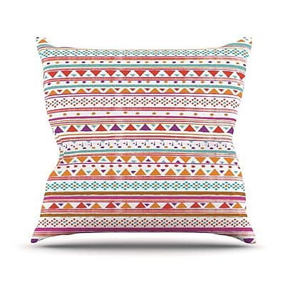 KESS InHouse Native Bandana Throw Pillow; 18'' H x 18'' W
