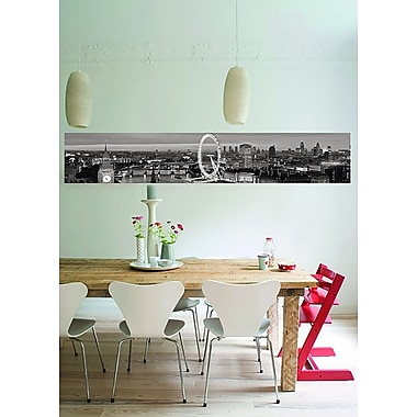 Brewster Home Fashions Euro Stripe London Wall Mural