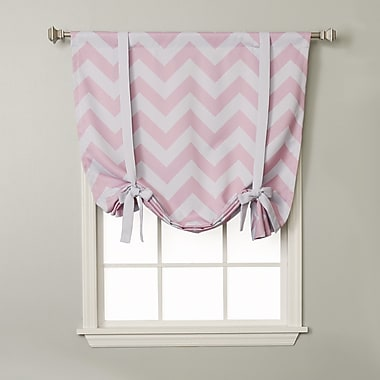 Best Home Fashion, Inc. Chevron Print Tie-Up Shade; Pink