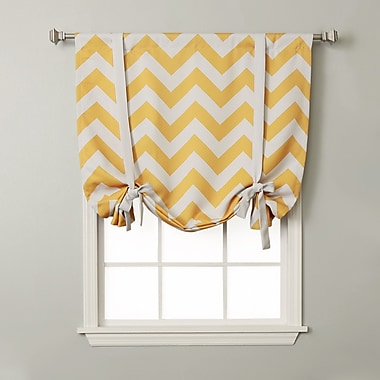 Best Home Fashion, Inc. Chevron Print Tie-Up Shade; Yellow