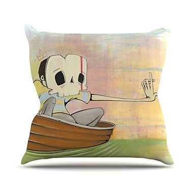 KESS InHouse Drifting Throw Pillow; 20'' H x 20'' W