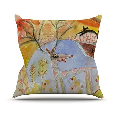 KESS InHouse Promise of Magic Throw Pillow; 18'' H x 18'' W