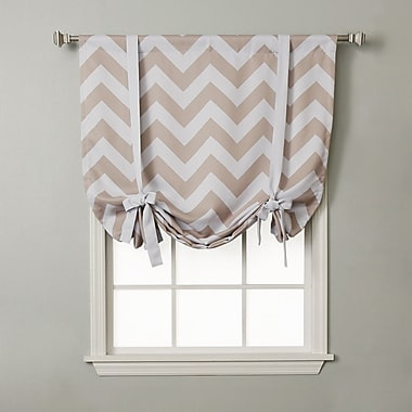 Best Home Fashion, Inc. Chevron Print Tie-Up Shade; Beige