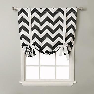 Best Home Fashion, Inc. Chevron Print Tie-Up Shade; Black