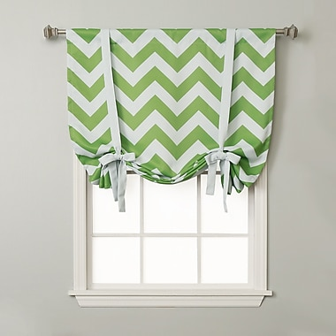 Best Home Fashion, Inc. Chevron Print Tie-Up Shade; Green
