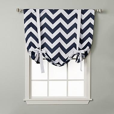 Best Home Fashion, Inc. Chevron Print Tie-Up Shade; Navy