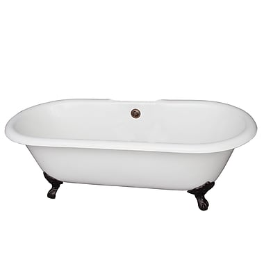 Barclay Duet 60.75'' x 31'' Soaking Bathtub; Oil Rubbed Bronze