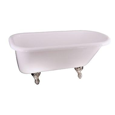 Barclay Asia 67'' x 29.5'' Soaking Bathtub; White