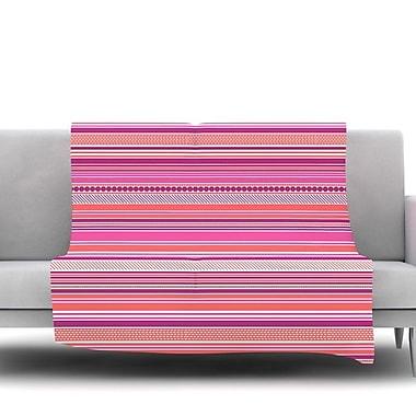 KESS InHouse Pink Ribbons Fleece Throw Blanket; 80'' L x 60'' W
