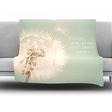 KESS InHouse Wishes Are Dreams by Debbra Obertanec Fleece Throw Blanket; 60'' H x 50'' W
