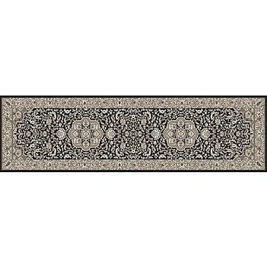 Art Carpet Kensington Black Area Rug; Runner 2' x 8'