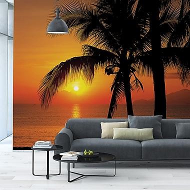 Brewster Home Fashions Komar Palmy Beach Sunrise Wall Mural