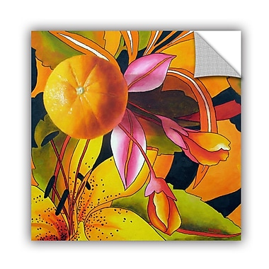 ArtWall Love Of Orange by Marina Petro Framed Painting Print on Wrapped Canvas; 36'' H x 36'' W
