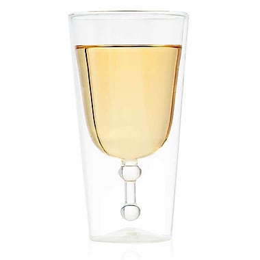 Highwave Inc. Wine Grail 11 oz. Double Wall Wine Glass (Set of 2)